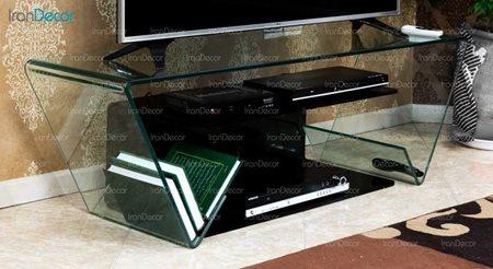 میز تلویزیون شیشه ای مدل یاقوت از اطلس