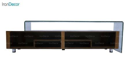 میز تلویزیون شیشه ای مدل الماس از اطلس