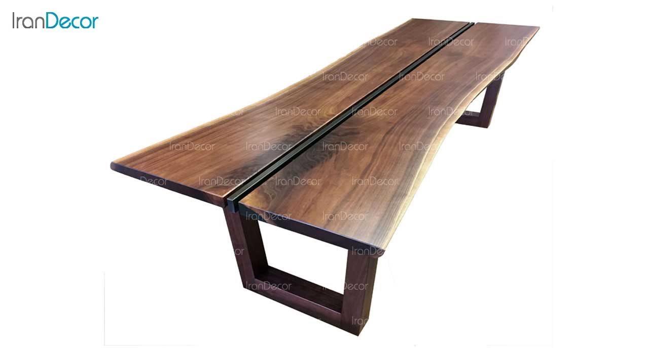 میز غذاخوری 8 نفره چوبی مدل روستیک کد A004