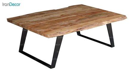 میز جلو مبلی چوبی مدل روستیک کد D002