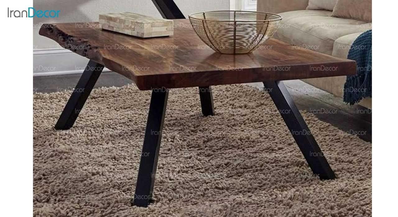 میز جلو مبلی چوبی مدل روستیک کد D003