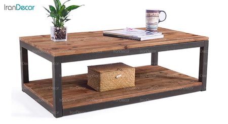 میز جلو مبلی چوبی مدل روستیک کد D004