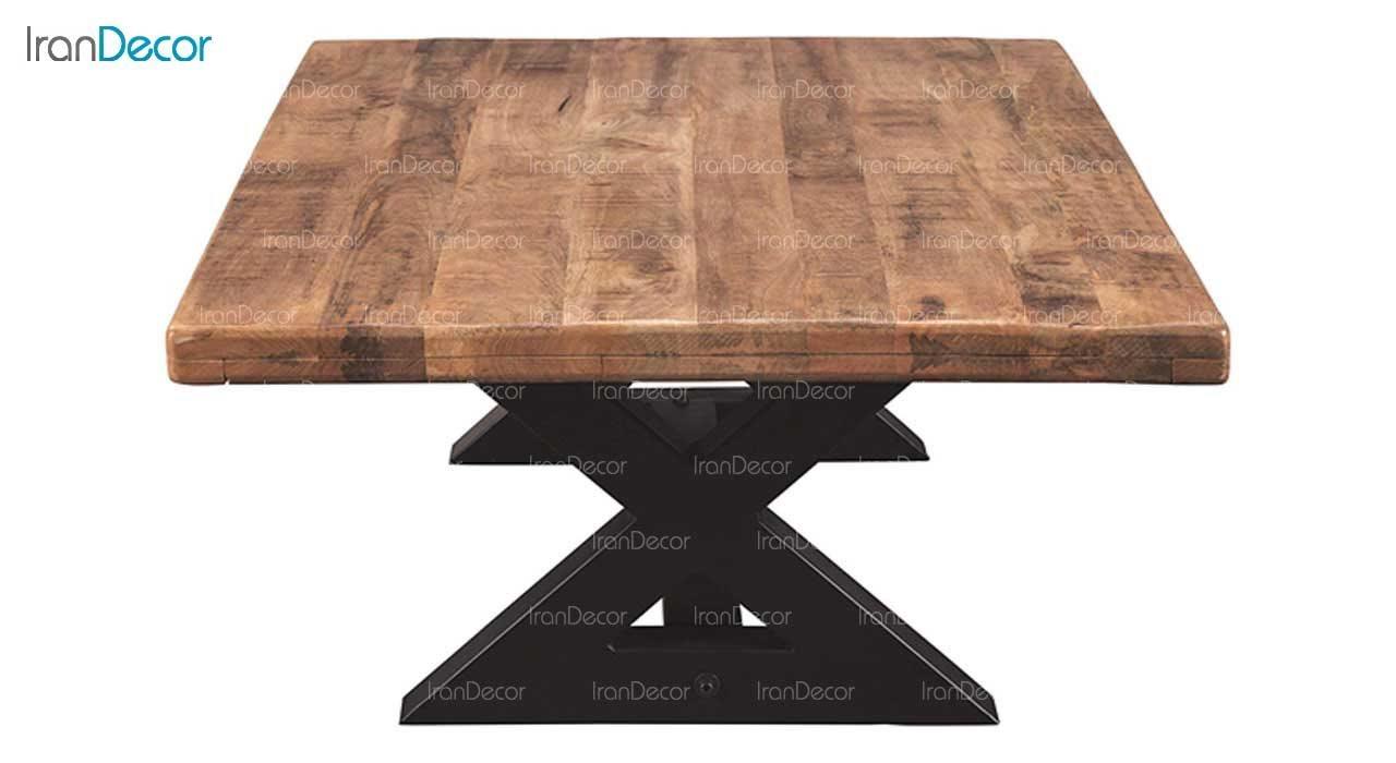 میز جلو مبلی چوبی مدل روستیک کد D005