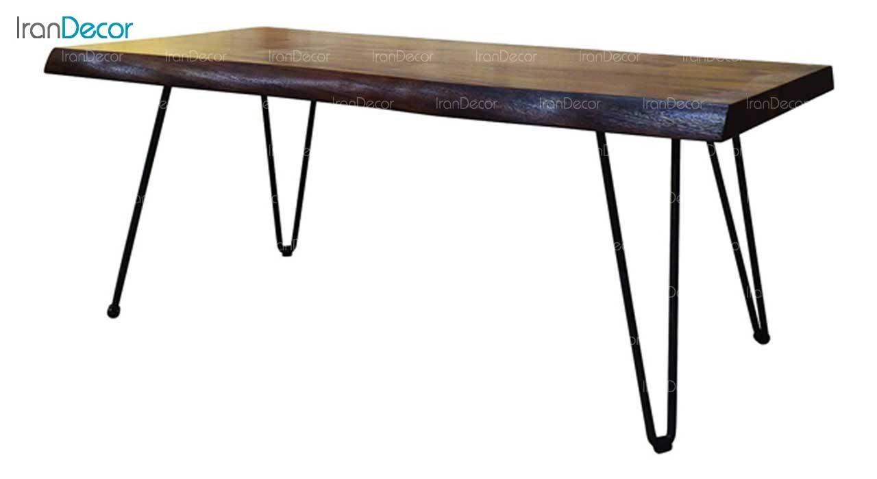 میز جلو مبلی چوبی مدل روستیک کد D006