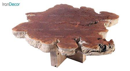 میز جلو مبلی چوبی مدل روستیک کد D007