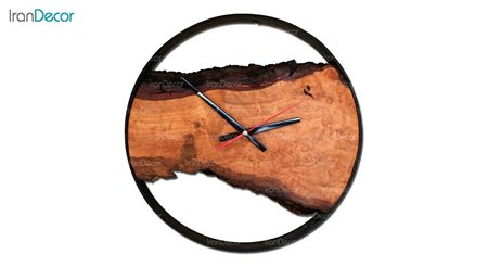 ساعت دیواری چوبی مدل روستیک کد C001