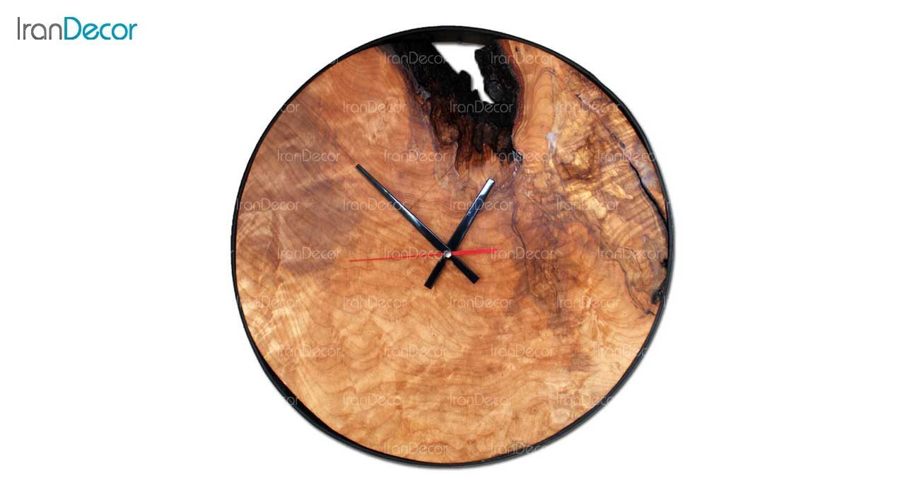ساعت دیواری چوبی مدل روستیک کد C002