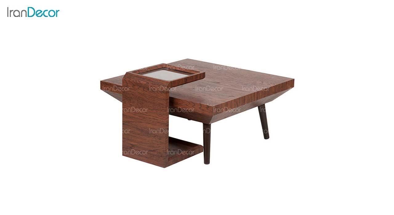 میز جلو مبلی قهوه ای مربع مدل CFT-18-OL-N