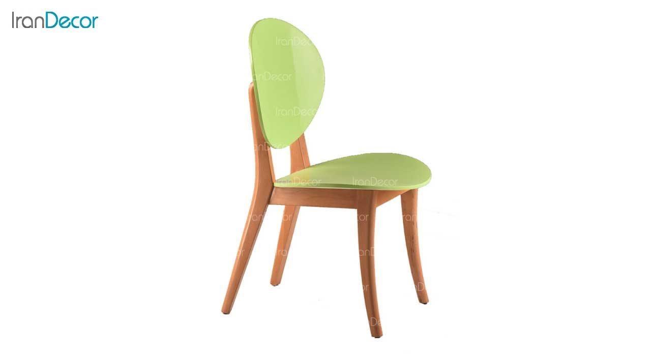 صندلی ناهار خوری مدل کارن با پشتی چوبی از فاما