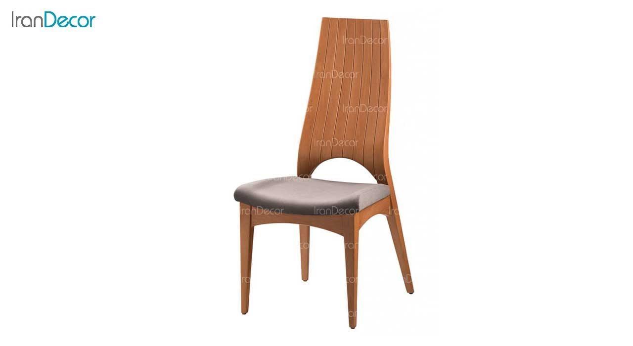 صندلی ناهار خوری مدل ماهان با پشتی چوبی از فاما
