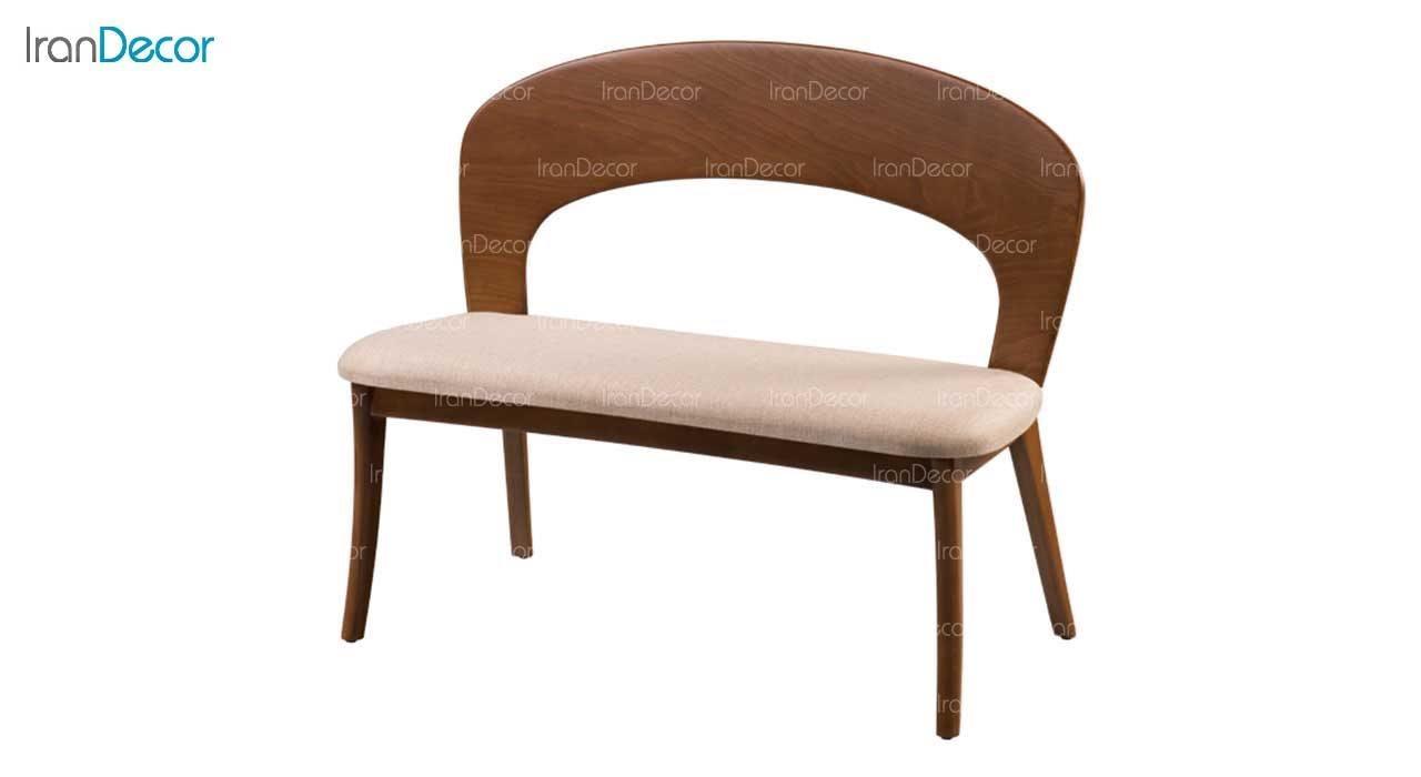 نیمکت مدل ارکیده با پشتی چوبی از فاما