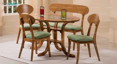 سرویس ناهار خوری چوبی پنج نفره مدل پگاه از فاما