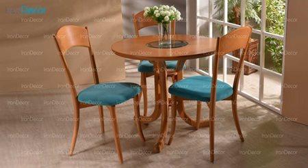 سرویس ناهار خوری چوبی سه نفره مدل یاس از فاما