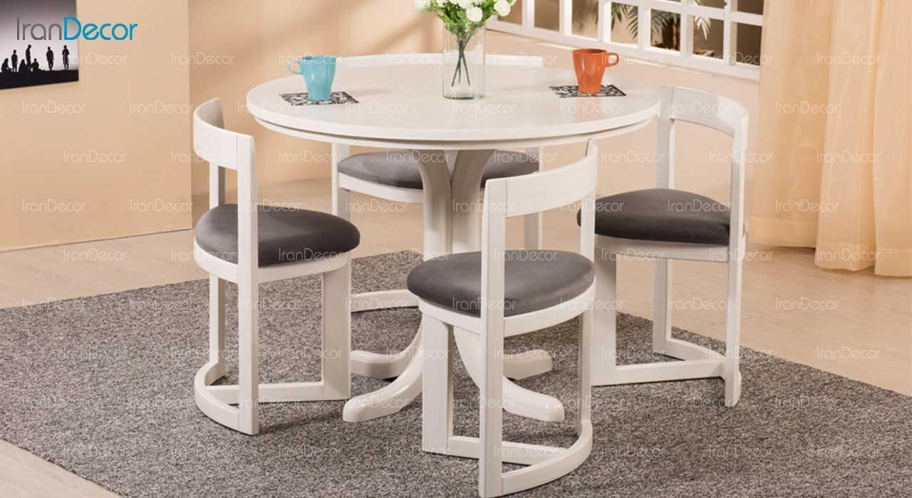 سرویس ناهار خوری چوبی چهار نفره مدل روماک از فاما