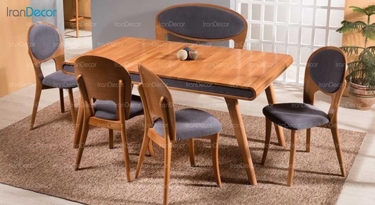 سرویس ناهار خوری چوبی شش نفره مدل ارکیده از فاما