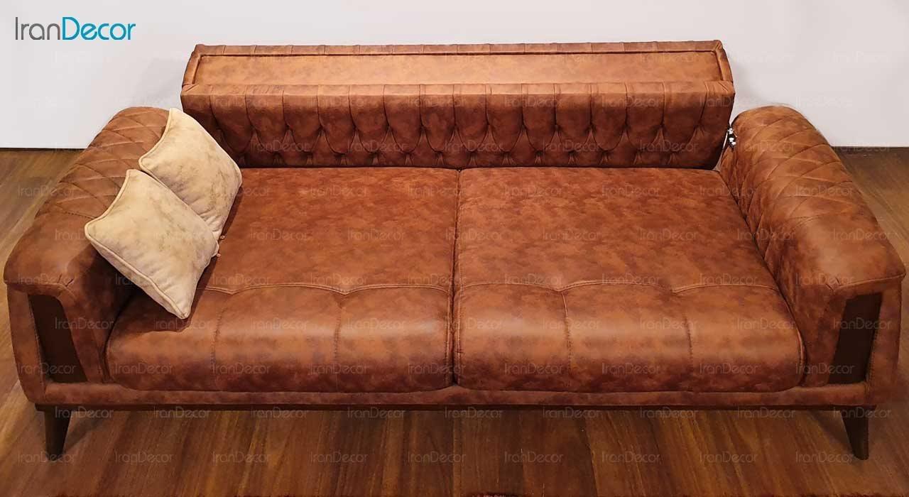 مبل راحتی سه نفره تختخواب شو مدل پاریس F3 از نیک آذین