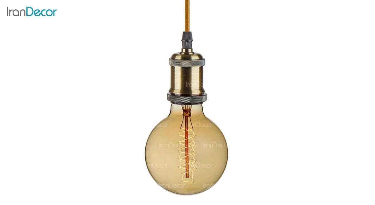 چراغ آویز چشمه نور مدل T3334-1H-4 همراه با لامپ ادیسون