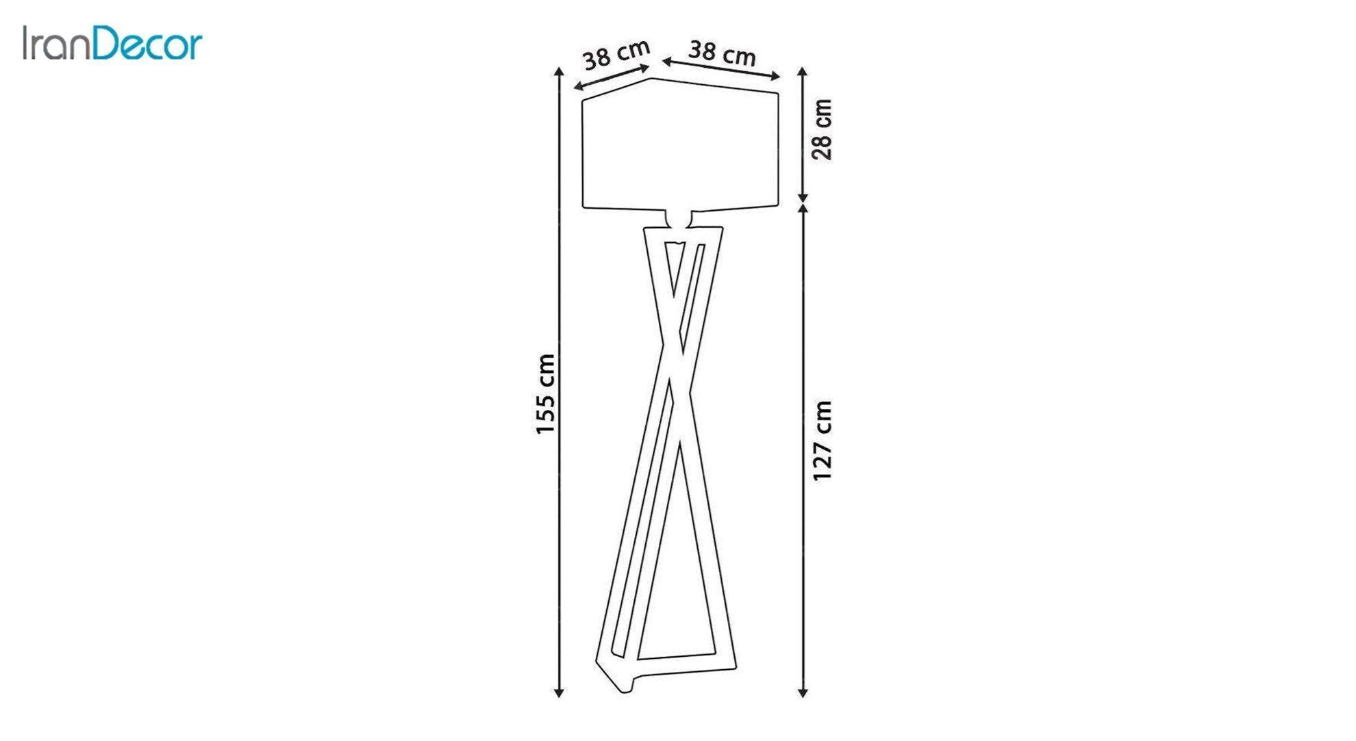 آباژور ایستاده چوبی مدل آرام ML7025/24 جزئیات