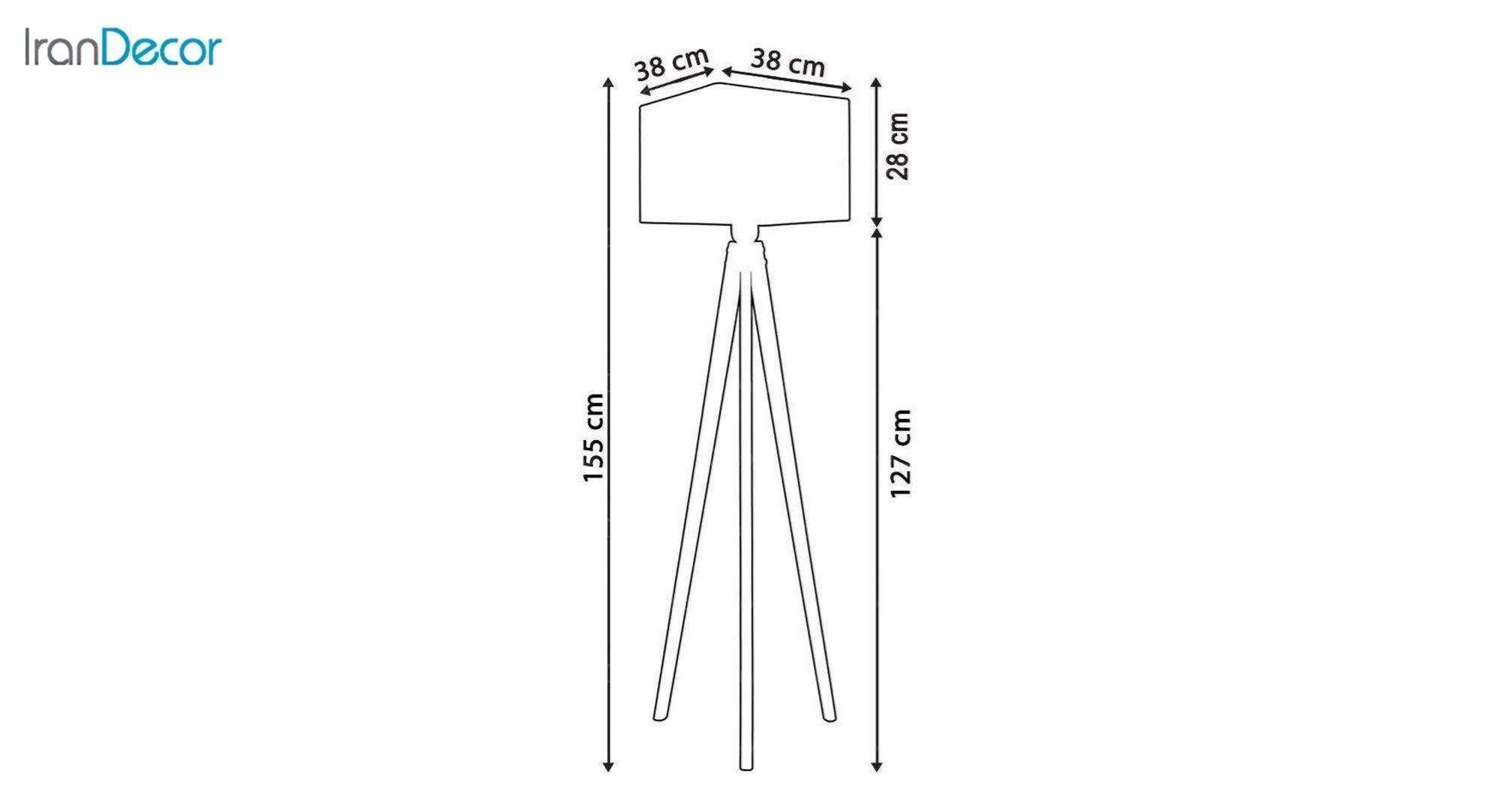 آباژور ایستاده چوبی مدل آرام ML7024/23 جزئیات