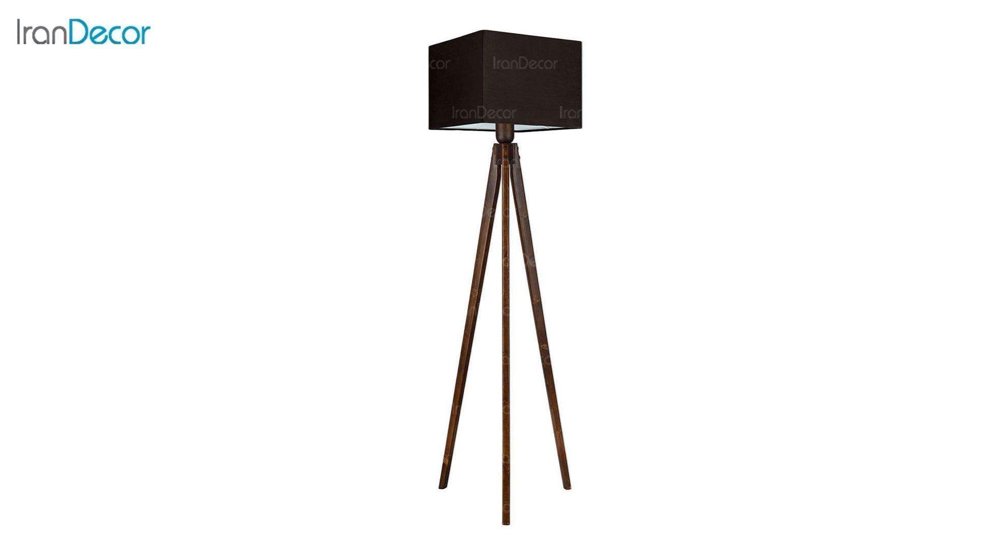 آباژور ایستاده چوبی مدل آرام ML7024/23 قهوه ای