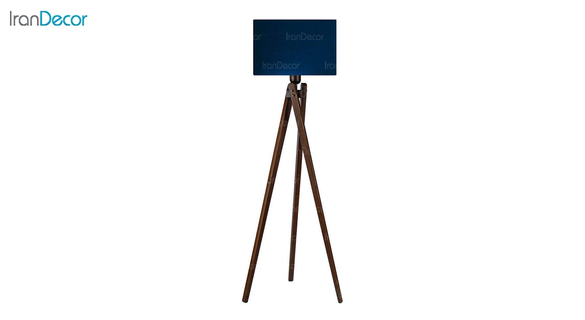 آباژور ایستاده چوبی مدل آرام ML7028/22 سرمه ای