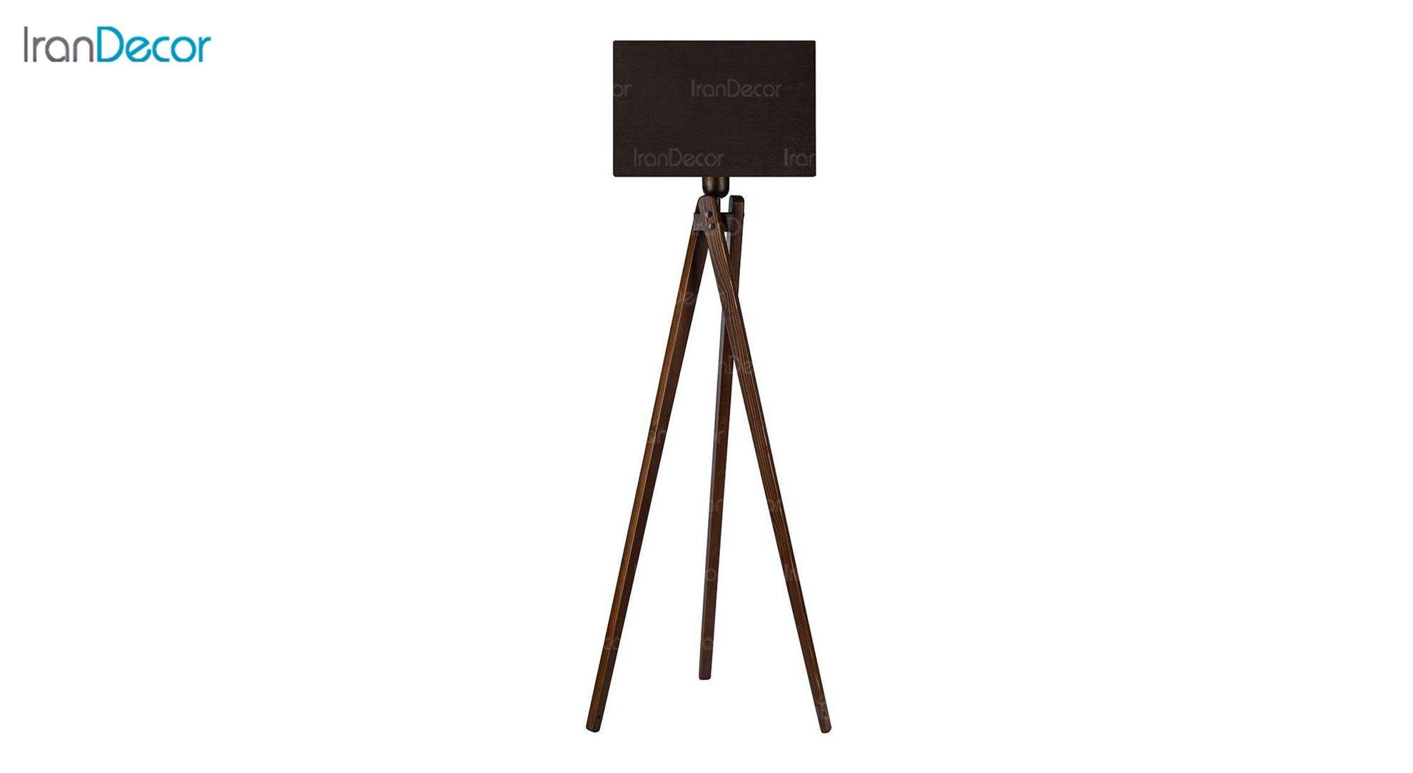 آباژور ایستاده چوبی مدل آرام ML7028/22 قهوه ای