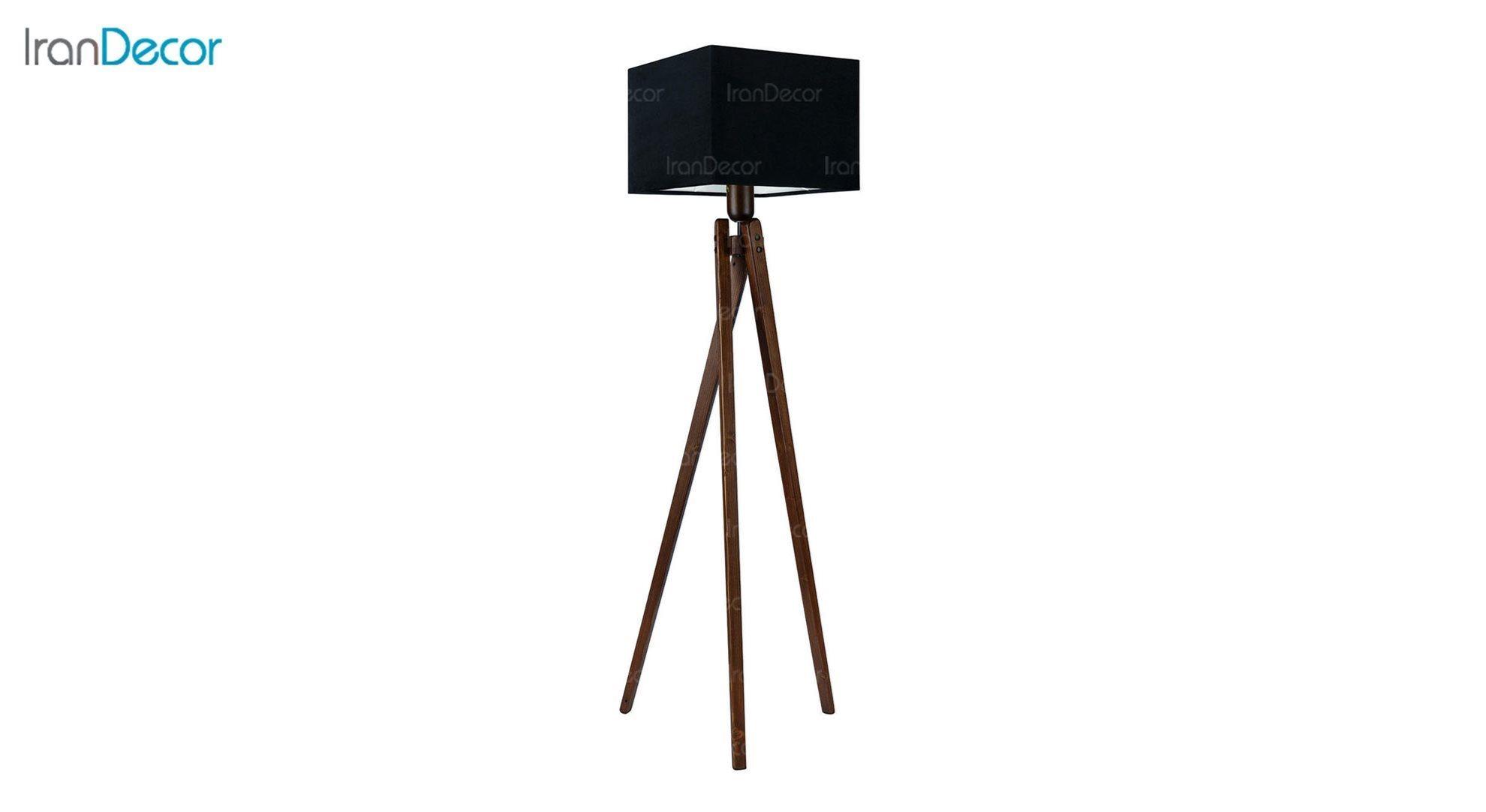 آباژور ایستاده چوبی مدل آرام ML7028/22 مشکی