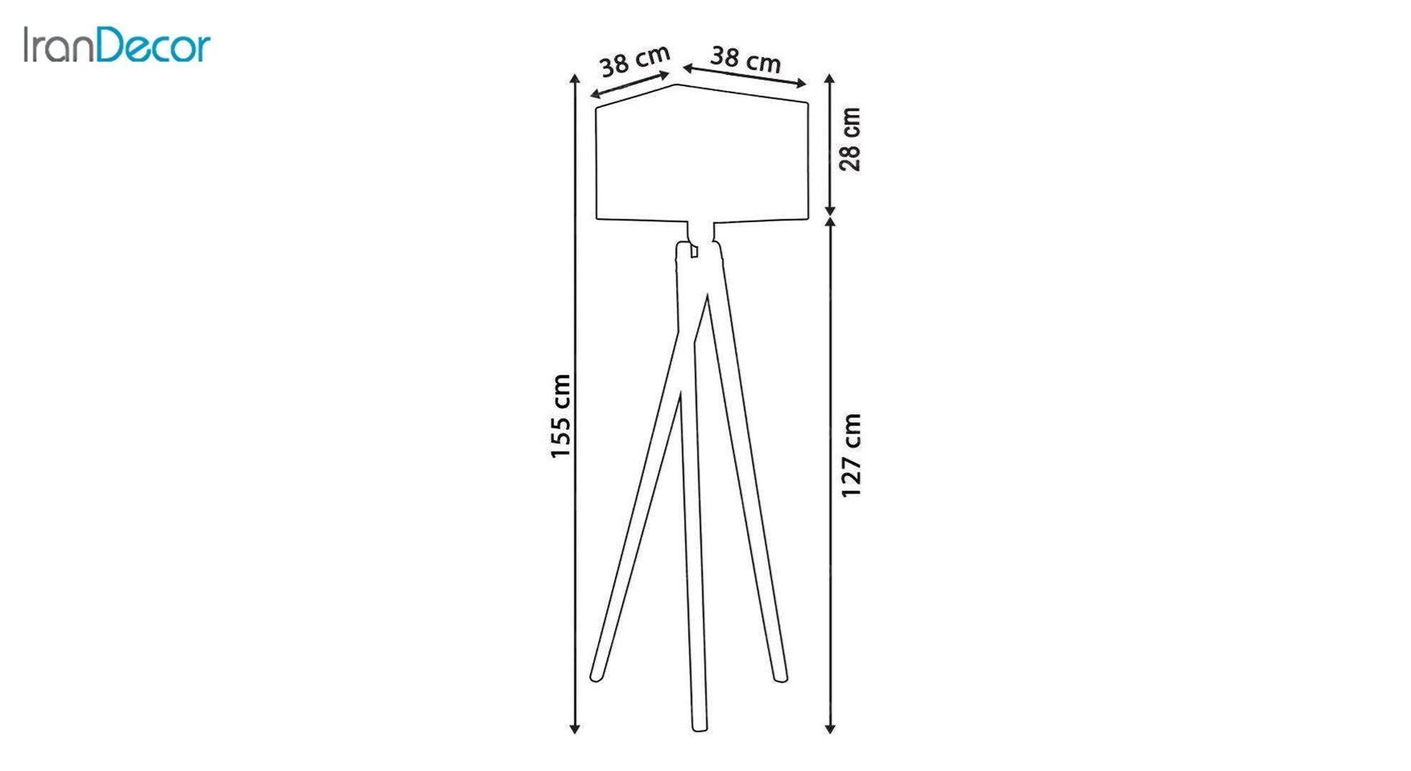آباژور ایستاده چوبی مدل آرام ML7028/22 جزئیات