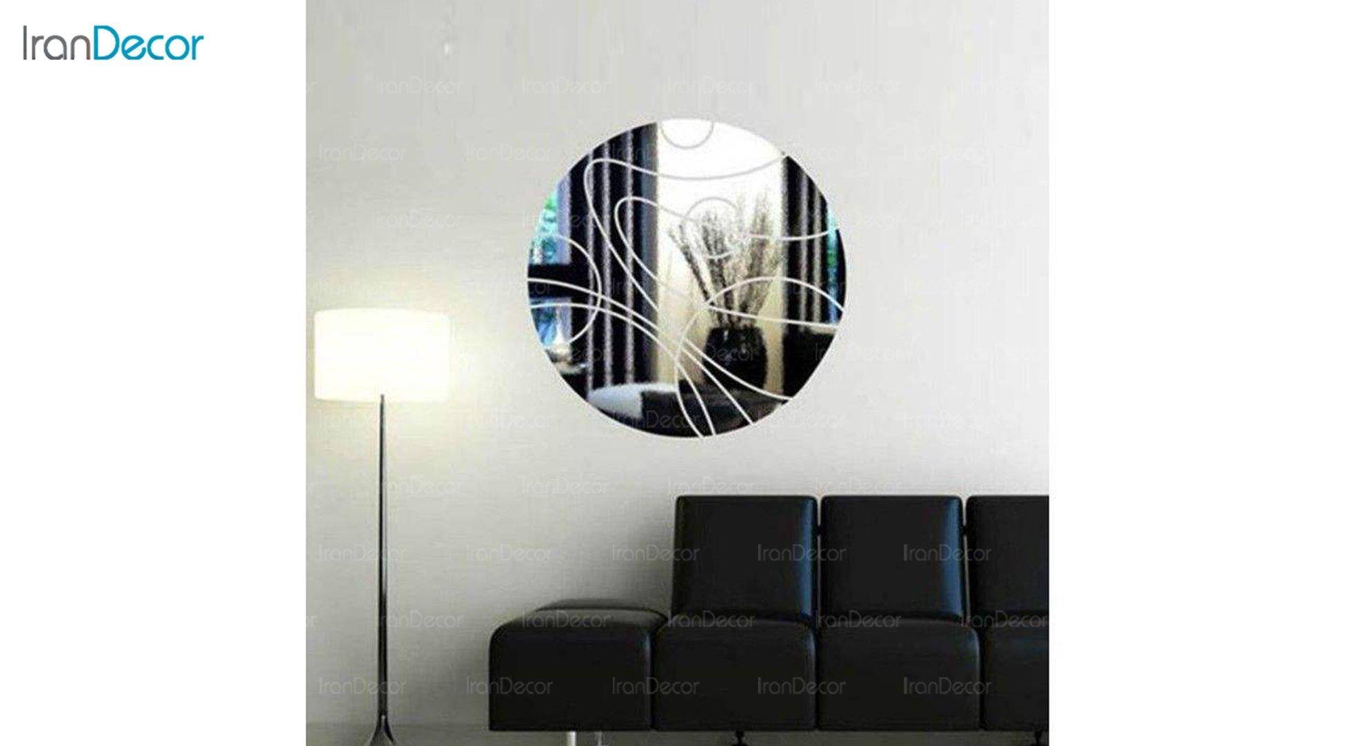 آینه پلکسی رومادون طرح دایره کد 406