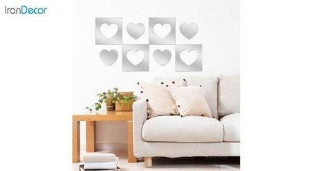 آینه پلکسی گلس طرح قلب رومادون کد 452 اندازه 40 سانتی متر