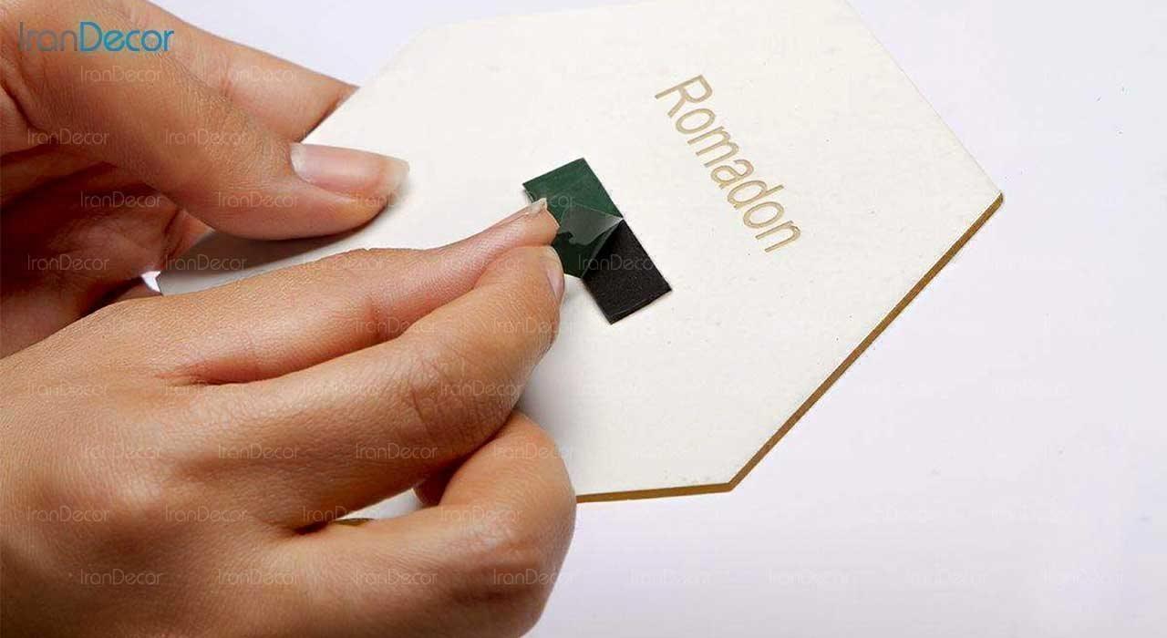 آینه پلکسی گلس طرح قلب رومادون کد 452 اندازه 20 سانتی متر شیوهی نصب