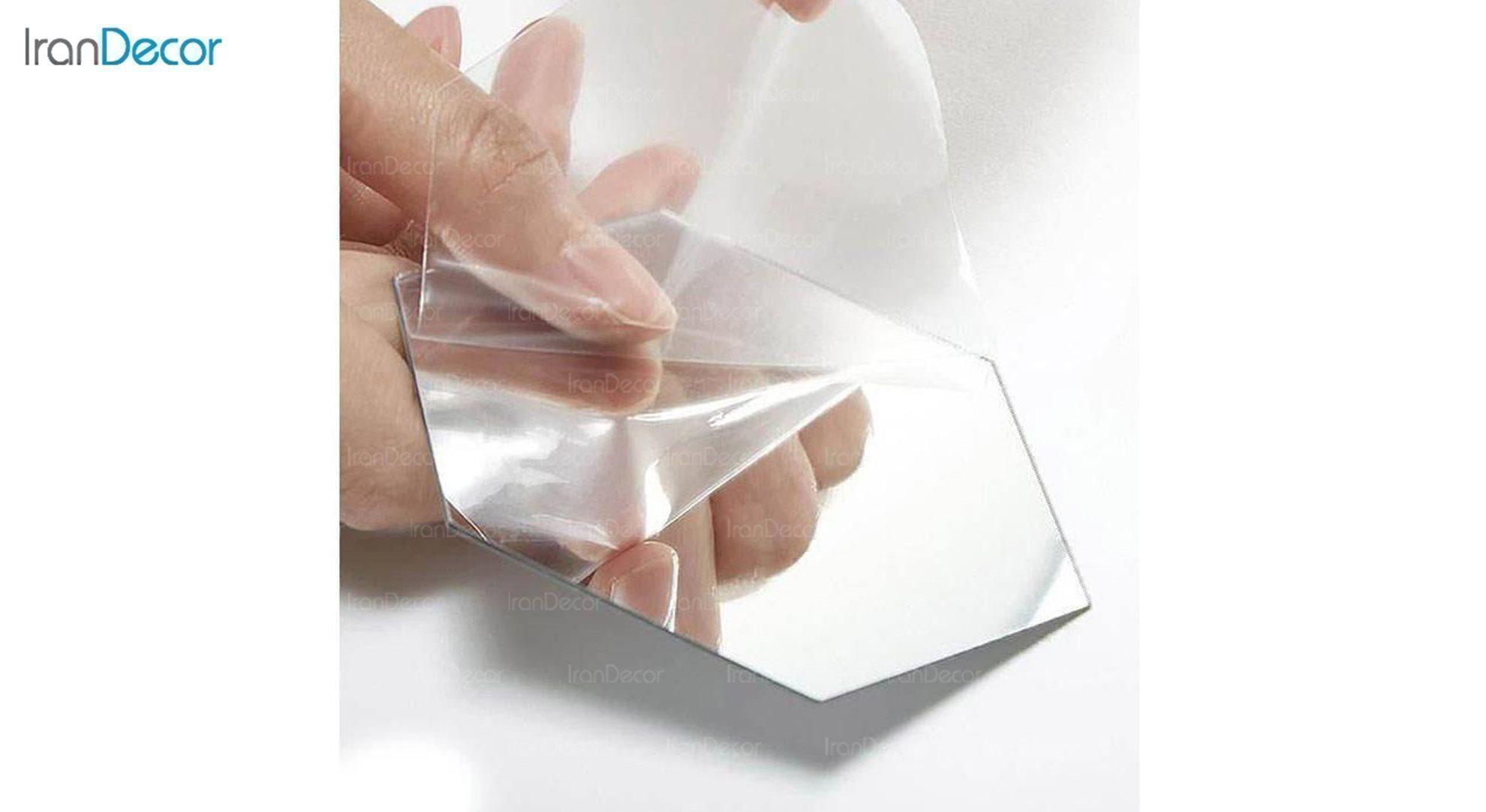 آینه پلکسی گلس طرح قلب رومادون کد 452 اندازه 20 سانتی متر نایلون ضد خش