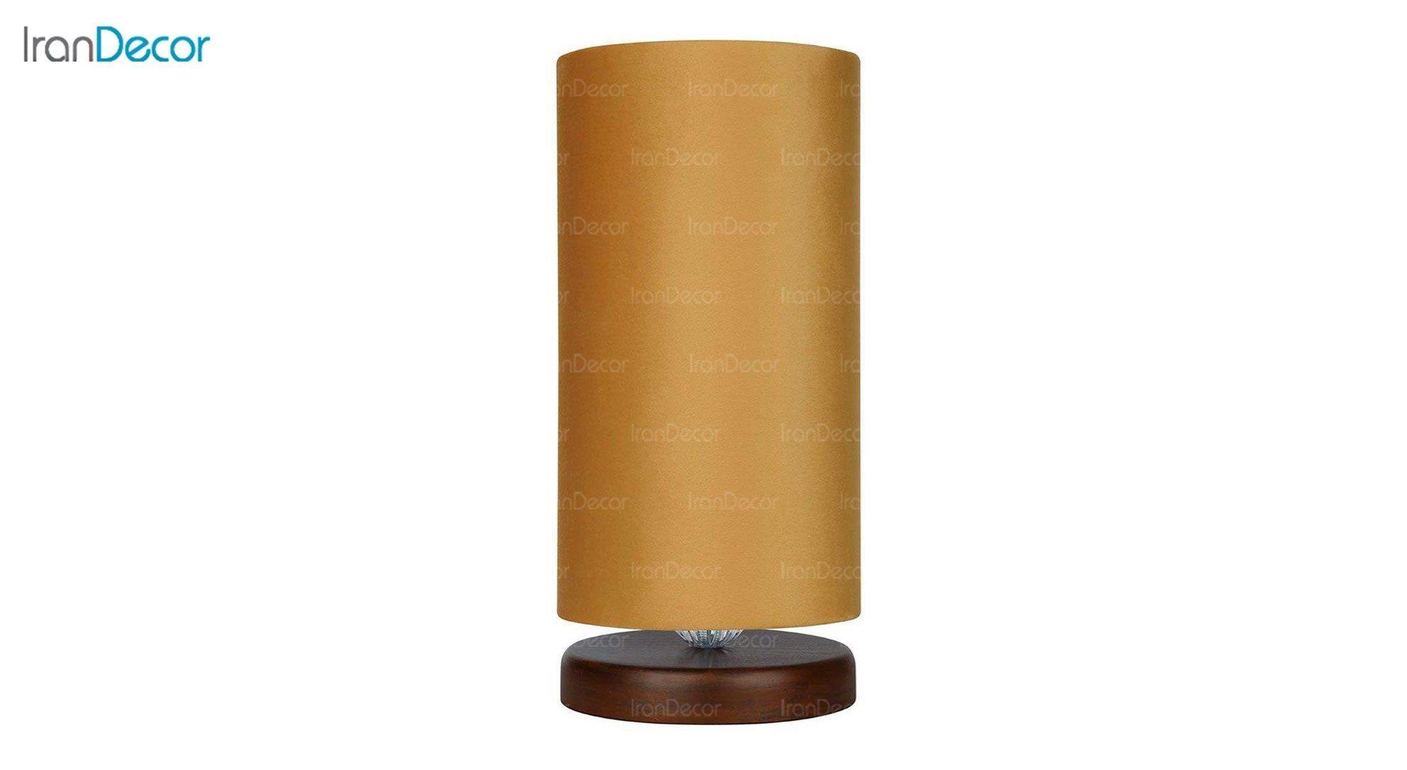 آباژور رومیزی چوبی مدل آرام MT7018/03 خردلی