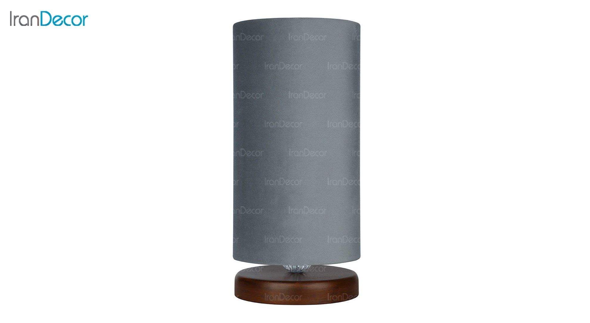 آباژور رومیزی چوبی مدل آرام MT7018/03 طوسی
