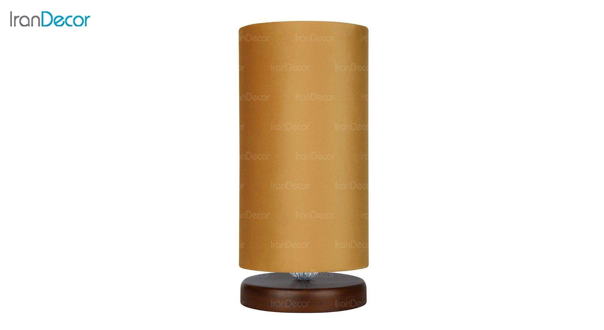 آباژور رومیزی چوبی مدل آرام MT7018/22 خردلی