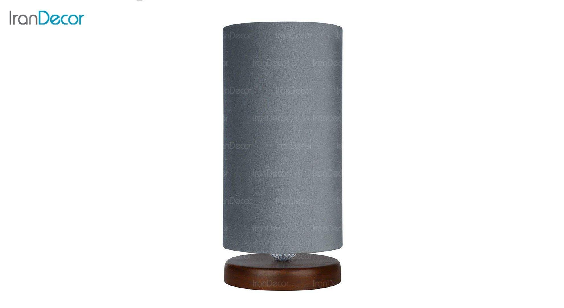 آباژور رومیزی چوبی مدل آرام MT7018/22 طوسی