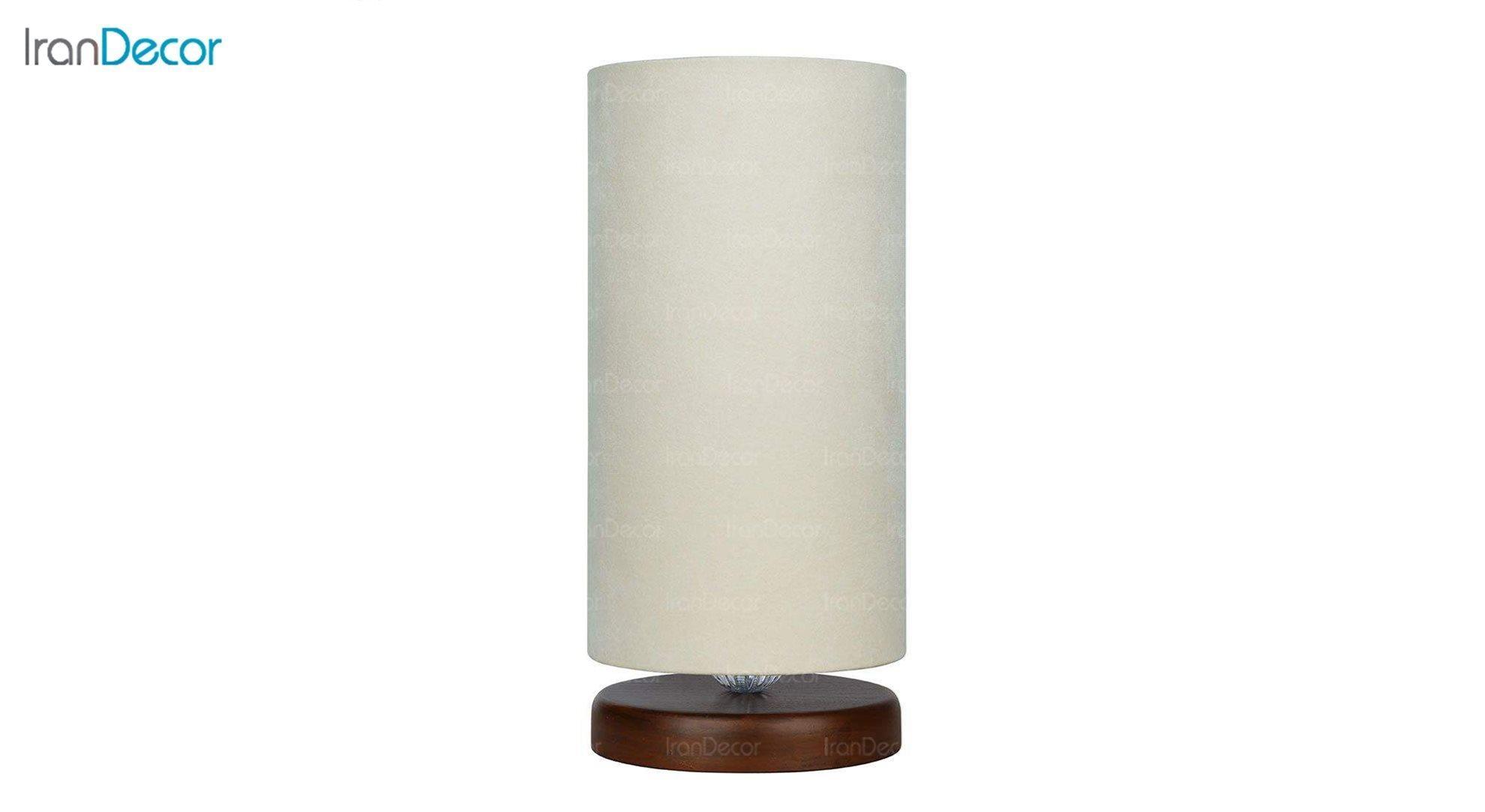 آباژور رومیزی چوبی مدل آرام MT7018/22 کرم
