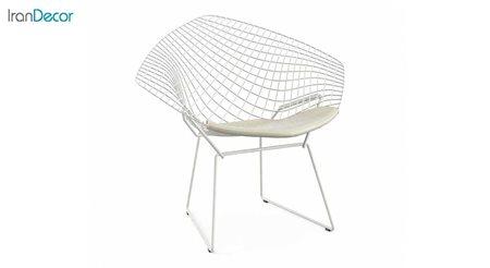 صندلی باغی مدل دیاموند سفید از صنیع کار
