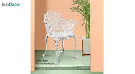 تصویر صندلی باغی مدل حصیری از صنیع کار