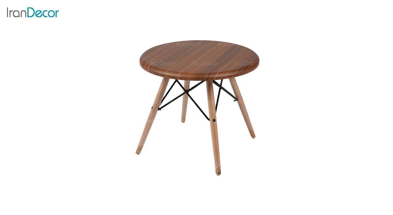 میز عسلی گرد TI1 قهوه ای از استیل هامون