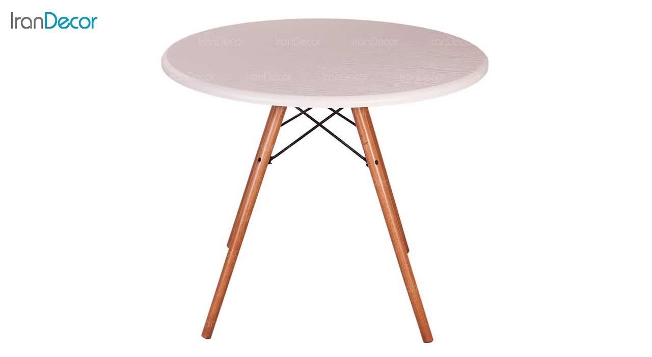 میز عسلی گرد TI1 سفید از استیل هامون