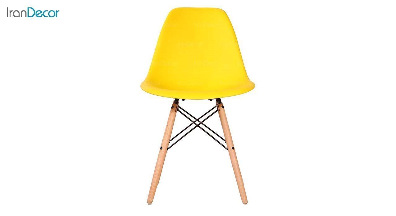 صندلی داووس مدل DAW زرد از استیل هامون