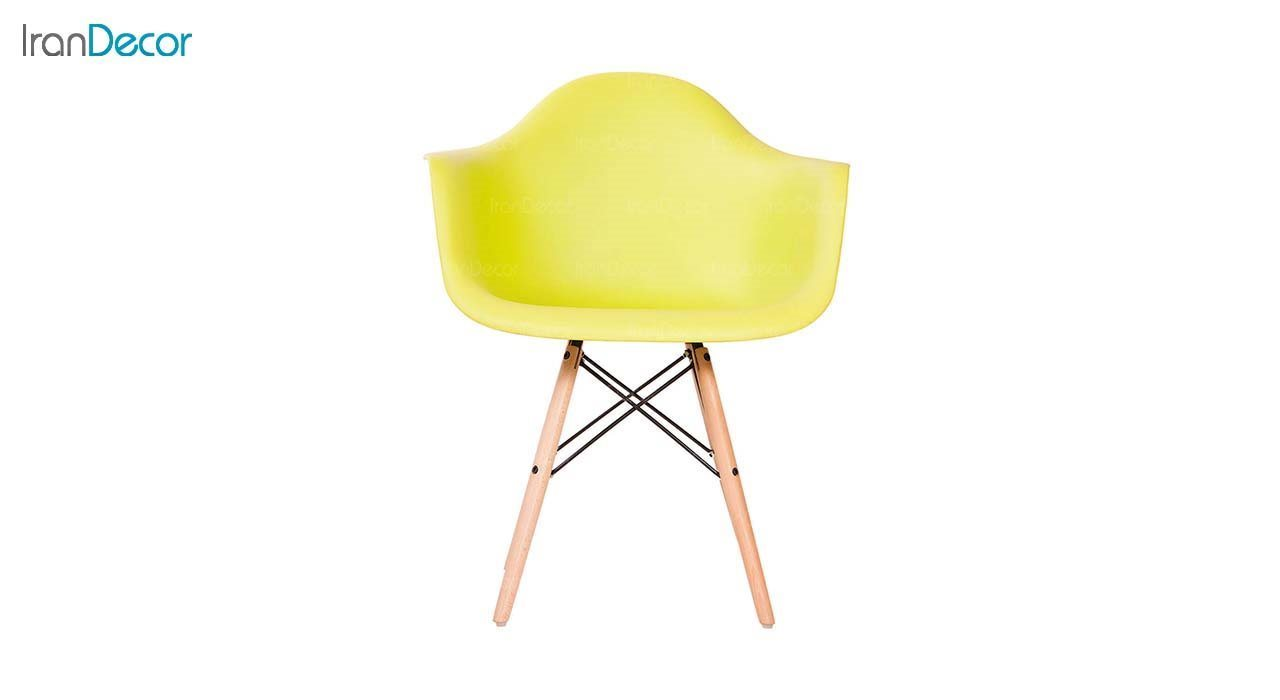 صندلی دسته دار ایمز مدل ایزی EW زرد از استیل هامون