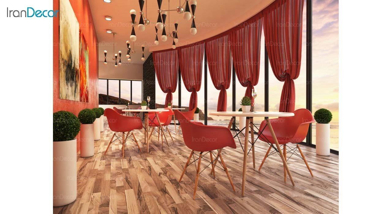 صندلی دسته دار ایمز مدل ایزی EW قرمز از استیل هامون