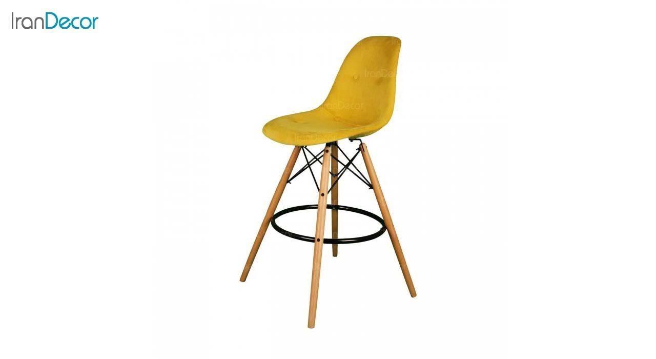 صندلی اپن مدل داووس DATW51 زرد از استیل هامون