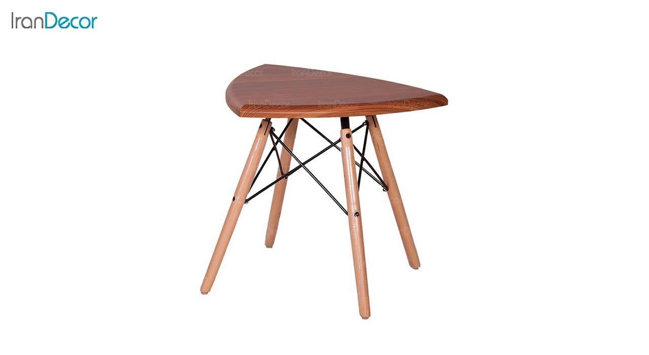 میز عسلی مثلثی مدل TI3 از استیل هامون