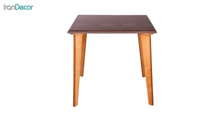 میز ناهار خوری چوبی چهار نفره مربع مدل TC3 از استیل هامون