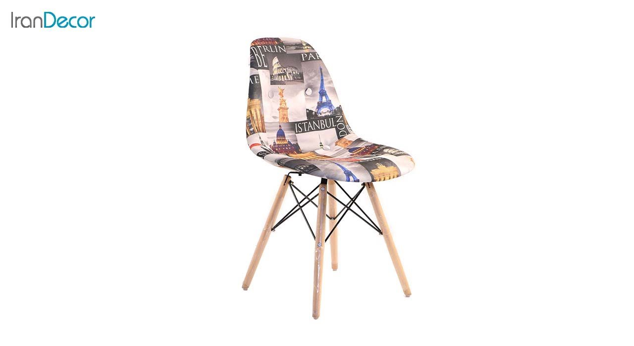 صندلی داووس مدل DATW طرح دار از استیل هامون