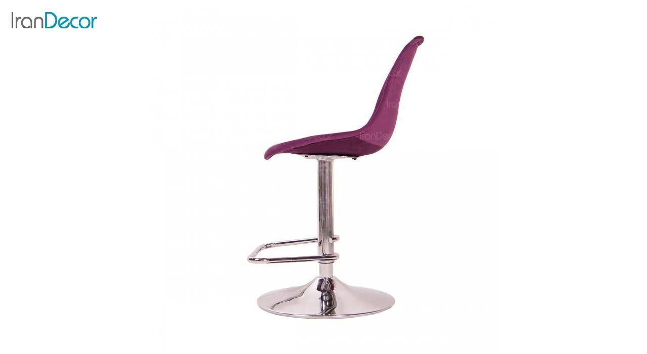 صندلی اپن فلزی ایمز مدل داووس DAT51 بنفش از استیل هامون
