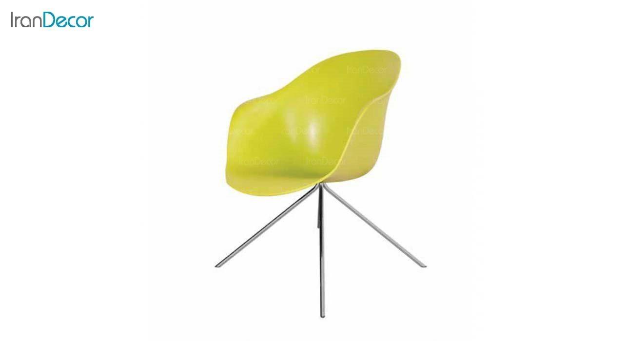 صندلی مدل کامفورت CB2 زرد از استیل هامون